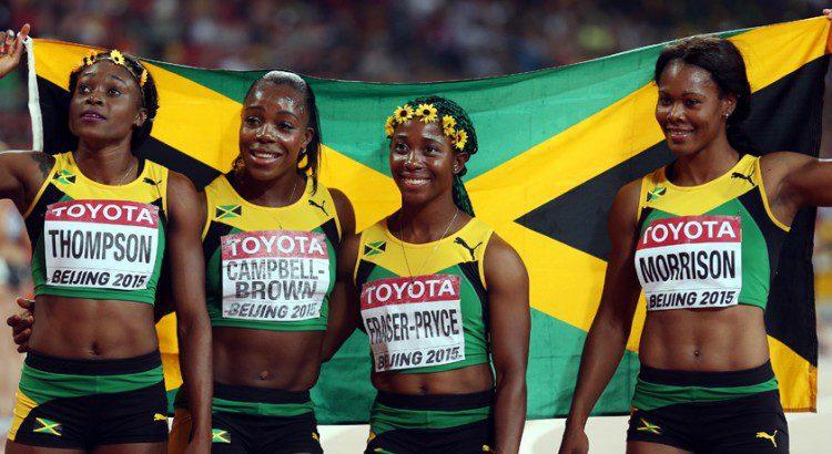 29 août 2015 Les Jamaïcaines sont championnes du monde du 4x100m