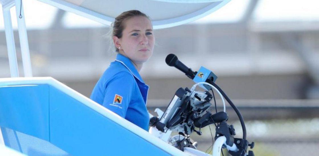 Aurélie Tourte, l'arbitre de chaise qui sait prendre de la hauteur
