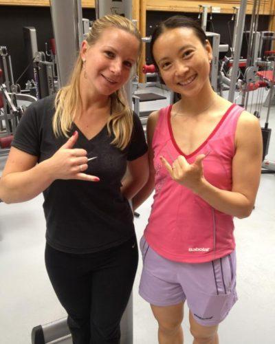 Julie Bezard et Hongyan Pi