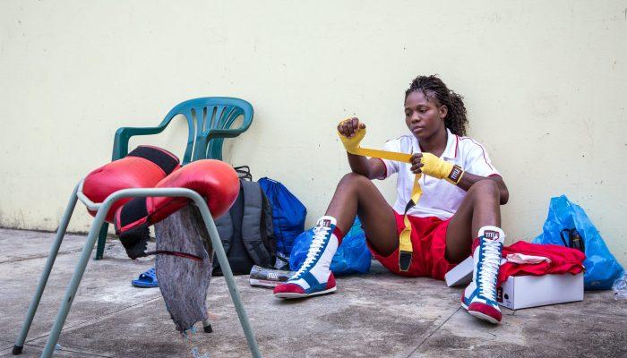 boxeuse de l'equipe du mozambique